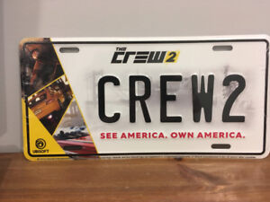 Ubisoft The Crew 2 collectible licence plate - New, sealed