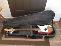 Base guitar and amplifier
