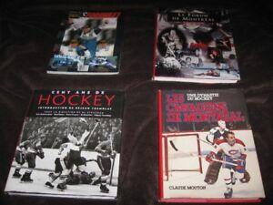 livres de collection sur le hockey et Jacques Villeneuve