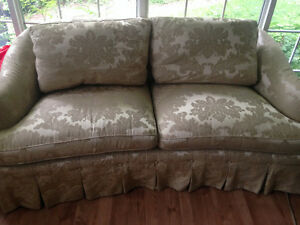 2 beautiful Down Filled Love-seat Couch sofas