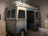 VW kids campervan bed.