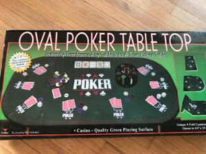Oval Poker Table Top