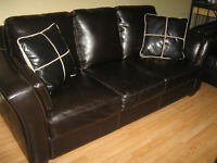3 PIECE GENUINE LEATHER LIVING ROOM SET FOR SALE