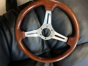 M's wood  steering wheel 13mm