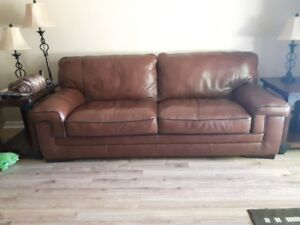 Genuine Leather Sofa and Chair for sale