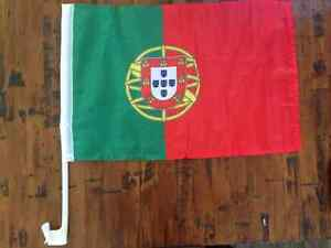 Car flags for sale Portugal, Italy and Uruguay