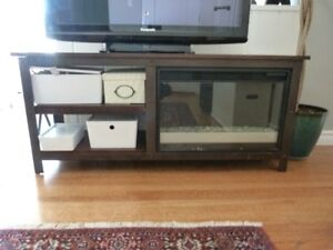 Entertainment unit with Electric Fireplace