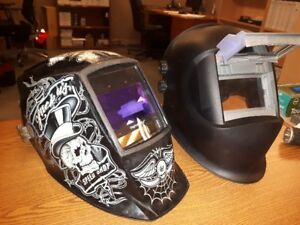 I HAVE FOR SALE TWO WELDING HELMETS, ONE DIGITAL USED COMES WITH