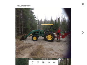 198? John Deere 1040 with 3pth backhoe attachment
