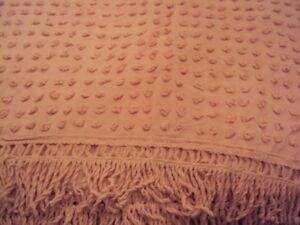 2 Vintage chenille twin size bedspreads $30