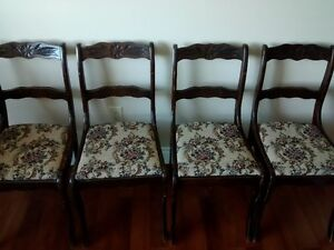 Beautifully Upholstered Duncan Phyfe Chairs
