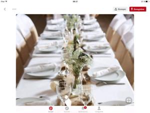 Différents  pots ,décoration  mariages évènement fête