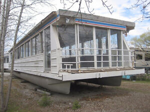 HOUSE BOAT BASE with STEEL FRAME FOR SALE
