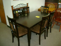 New table and six chairs. $599.
