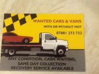 WANTED CARS VANS 4x4 ANY CONDITION. 0117 4011511