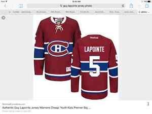 Recherche looking for guy lapointe jersey chandail