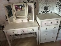 (Next)dressing table and chest of drawers