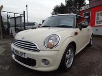 2011 Mini Hatchback 1.6 One 3dr 12 month mot, low rate finance, warranty,2 ke...