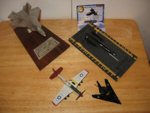 4 Die cast metal aircraft models