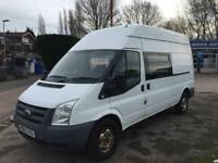 60 plate Ford Transit 2.4 TDCI HIGH ROOF LONG WHEELBASE nine seat van