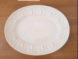 Large Acorn Design Italian Pottery Serving Dish