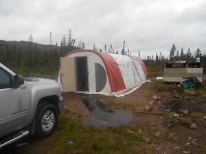 Tente de prospection