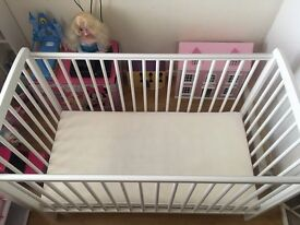Toys r us slim line cot bed and mattress