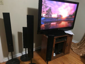 reduced must go!! Tv and sound system