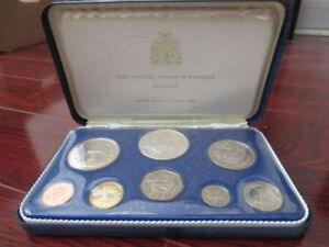 First National Coinage of Barbados - Proof Set - 1973 - Minted