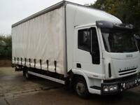 2007 IVECO EUROCARGO 75E17 CURTAIN SIDER WITH 1100 KG UNDERSLUNG TAILIFT NO VAT