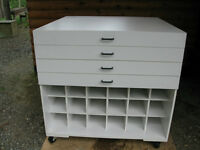Map or drawing storage cabinet