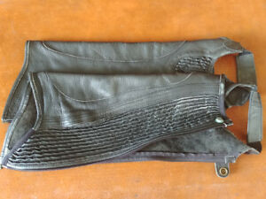 Half chaps - black leather