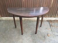 SHABBY CHIC PROJECT WOOD HALF MOON HALL TABLE ** FREE DELIVERY AVAILABLE **