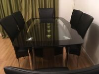 Stunning Glass dining table