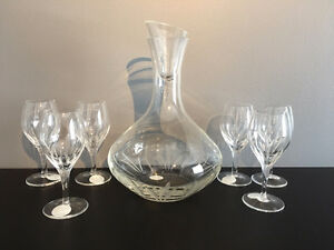 Princess House Decanter and Glasses (6)