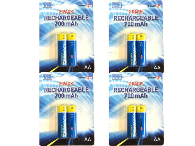 NEW 8 x AA 1.2v R6 NiMH RECHARGABLE SOLAR GARDEN LIGHT REPLACEMENT BATTERIES