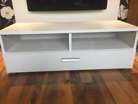 Brand new White TV Stand with double draw for upto 50 inch