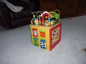 Activity Cube and Toy Bead Maze