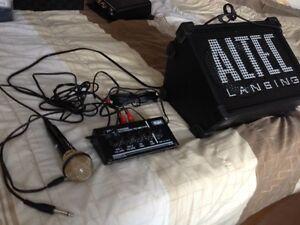 Haute Parleur amplifier, mixer avec echo equalizer, micro et tou