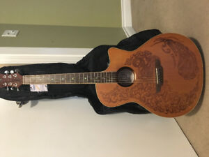 NEW LUNA ACOUSTIC ELECTRIC GUITAR