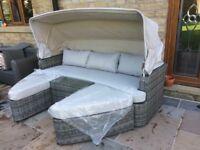 Rattan garden day bed / cocoon