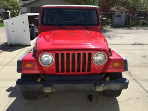 1998 Jeep TJ Convertible with soft top + Hard top