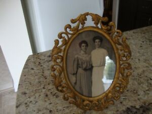 Vintage Gold Plated Picture Frame