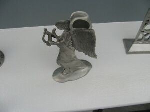 Seagull Pewter Angel with Harp Taper Candle Holder London Ontario image 4