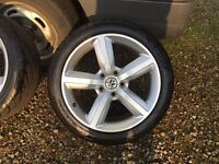 """Audi 17"""" alloys and tyres"""