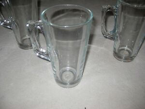 4 Glass Latte Glasses - $5.00 obo Kitchener / Waterloo Kitchener Area image 1
