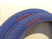 Blue Primo the wall bmx freestyle tyres mid school
