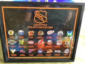 Early 1990s Collectible NHL pin set