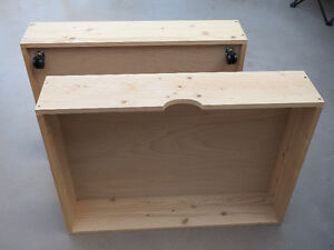 TWO SOLID WOOD DRAWERS TO USE AS PLANTERS OR UNDER BED