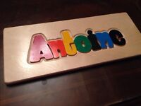 Personalized puzzle boards